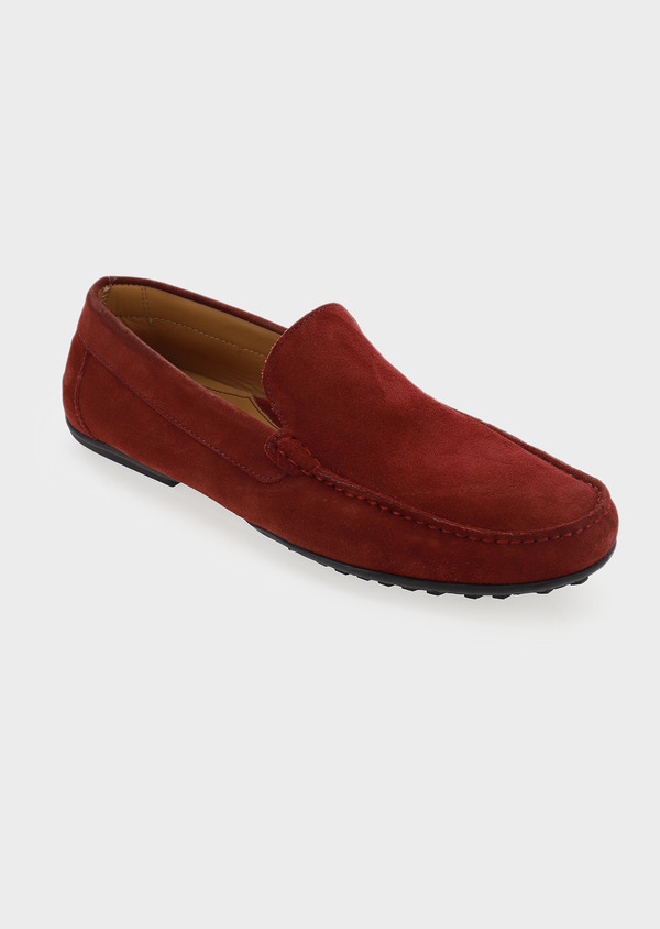 Mocassins en daim bordeaux - Father and Sons 5071