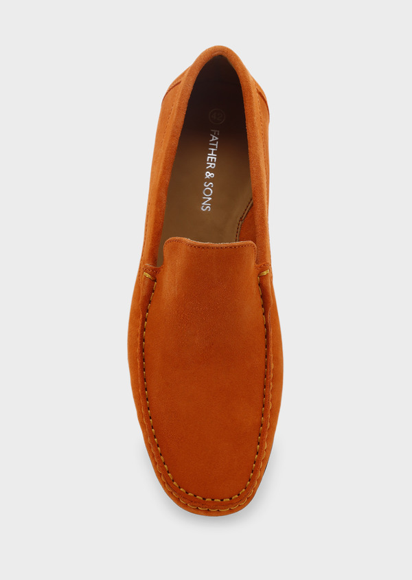 Mocassins en daim orange - Father and Sons 5087