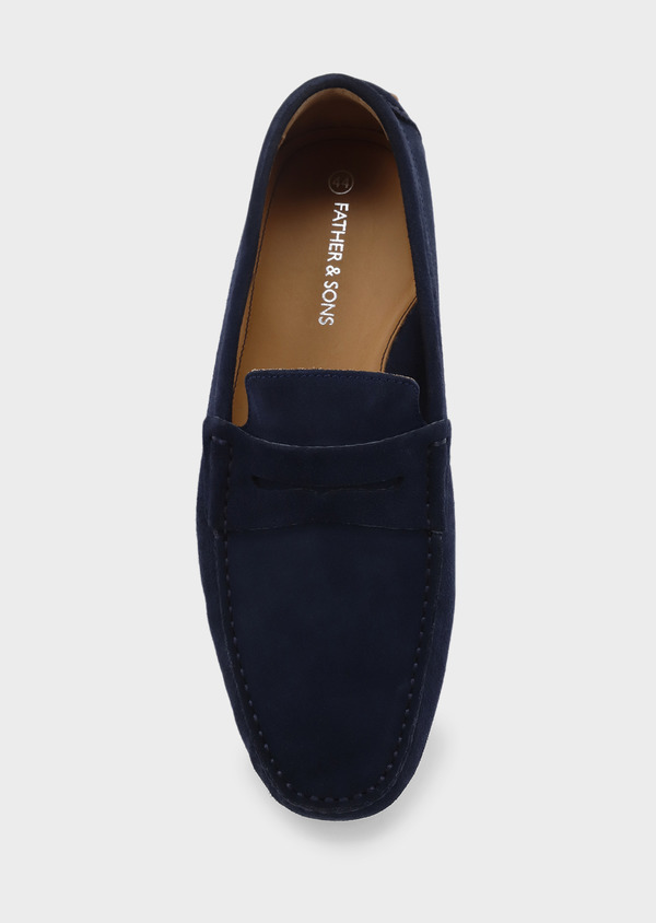 Mocassins en daim bleu marine - Father and Sons 5062