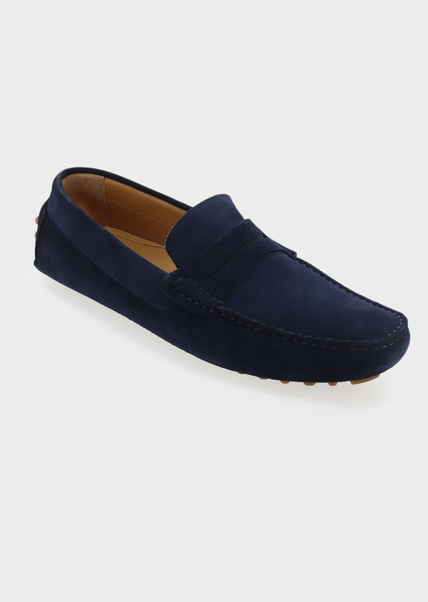 Mocassins en daim bleu marine - Father and Sons 5061