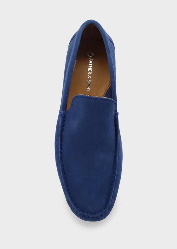 Mocassins en daim bleu - Father and Sons 5077