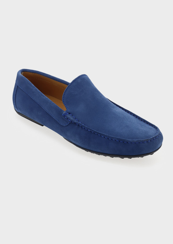 Mocassins en daim bleu - Father and Sons 5076