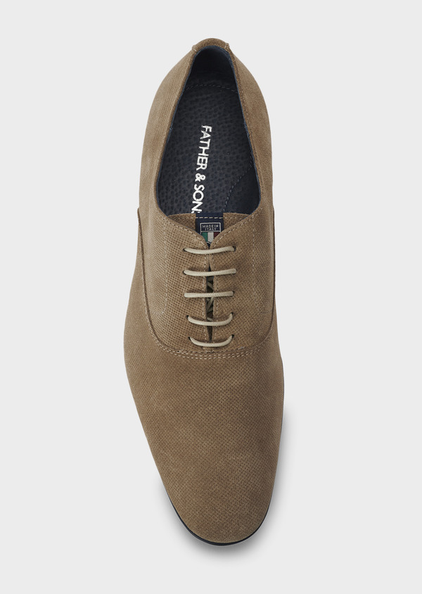 Richelieus en daim beige - Father and Sons 5037