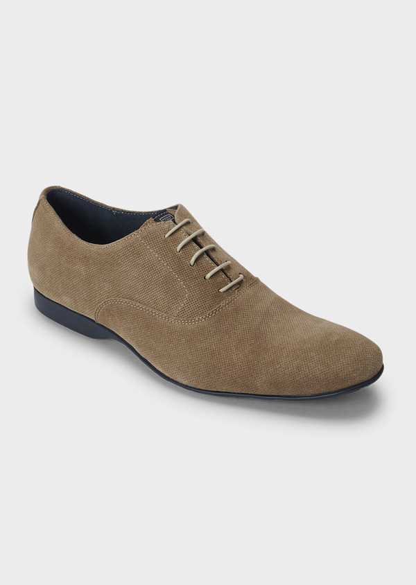 Richelieus en daim beige - Father and Sons 5036