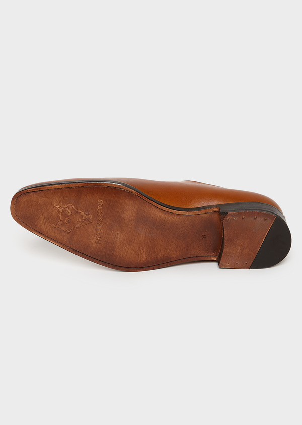 Richelieus en cuir lisse uni marron - Father and Sons 4993