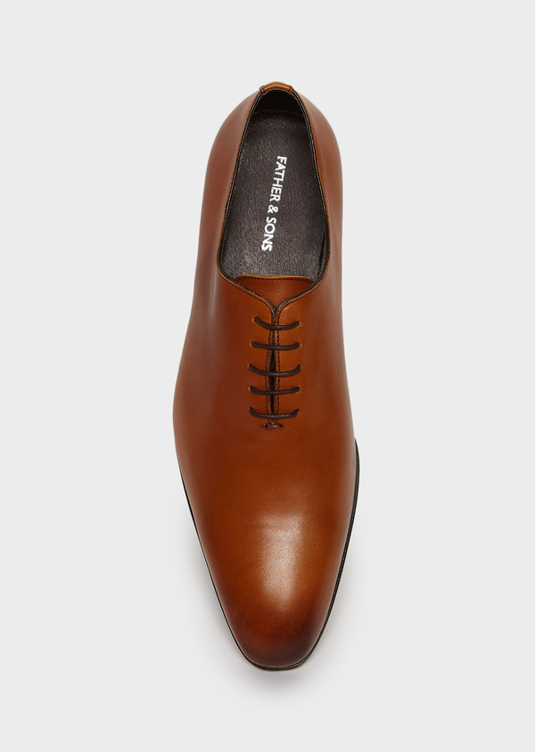Richelieus en cuir lisse uni marron - Father and Sons 4992