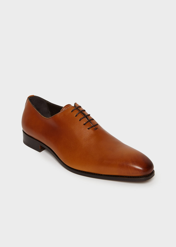 Richelieus en cuir lisse uni marron - Father and Sons 4991