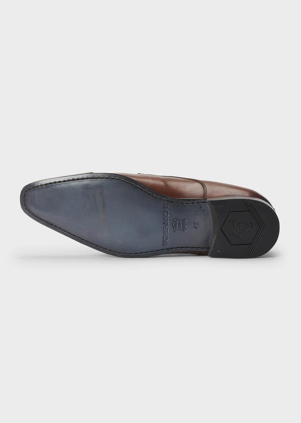 Chaussures à boucles en cuir lisse cognac - Father and Sons 5008
