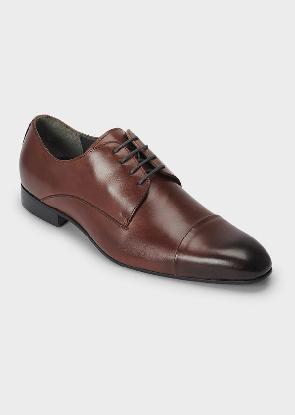 Derbies en cuir lisse marron - Father and Sons 4986