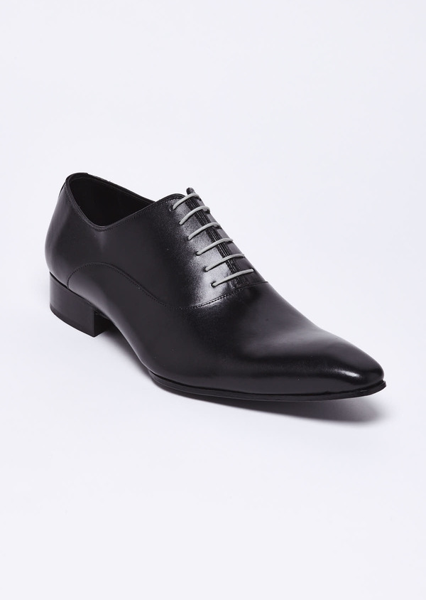 Richelieus en cuir lisse noir - Father and Sons 9063