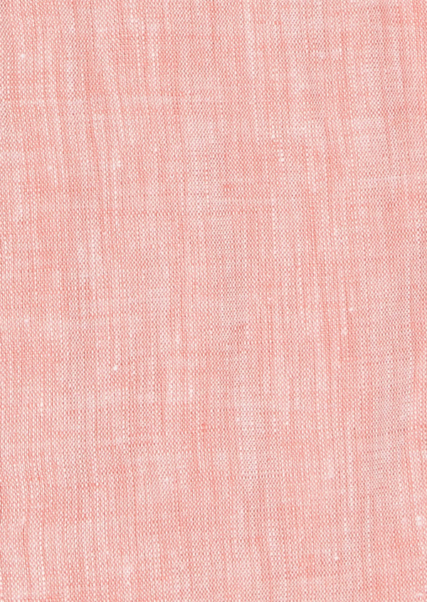 Chemise sport Slim en lin uni corail - Father and Sons 5428