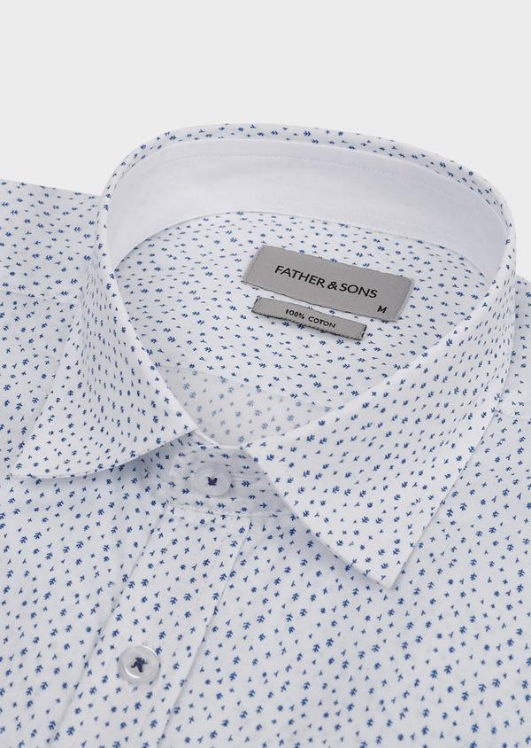 Chemise sport Regular en popeline de coton à motif fantaisie bleus - Father and Sons 5527