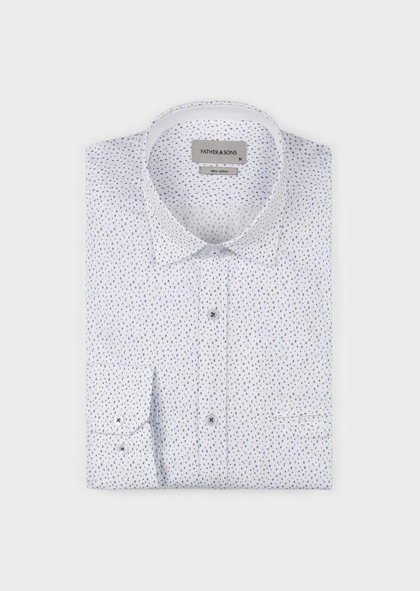 Chemise sport Regular en popeline de coton à motif fantaisie bleus - Father and Sons 5525