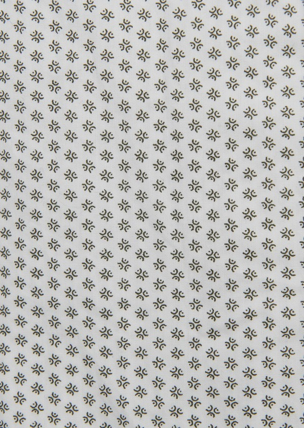 Chemise sport Slim en popeline de coton à motifs fantaisie noirs - Father and Sons 5540