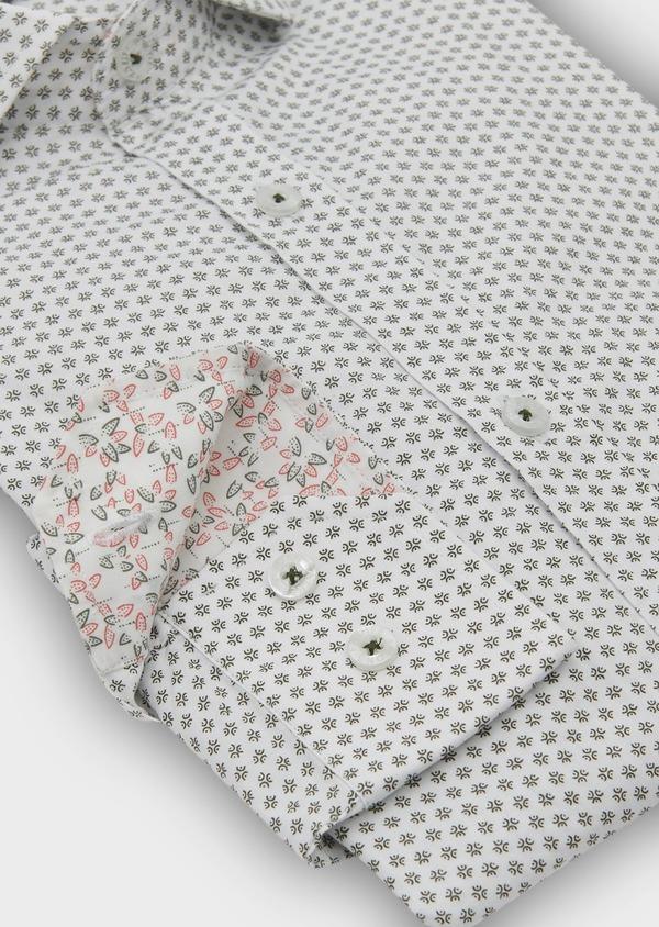 Chemise sport Slim en popeline de coton à motifs fantaisie noirs - Father and Sons 5542