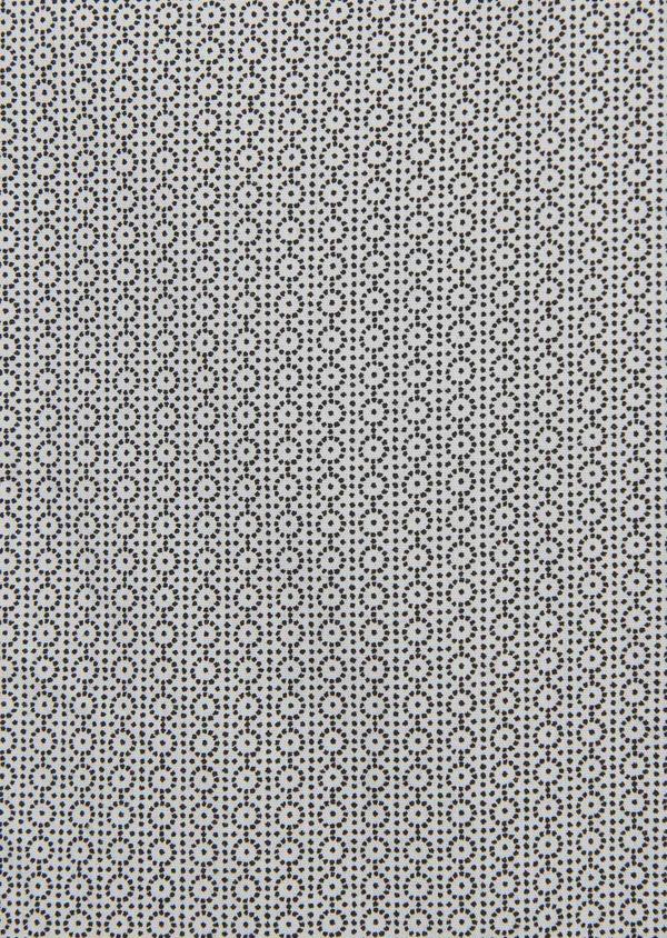 Chemise sport Slim en popeline de coton à motifs noirs - Father and Sons 5596