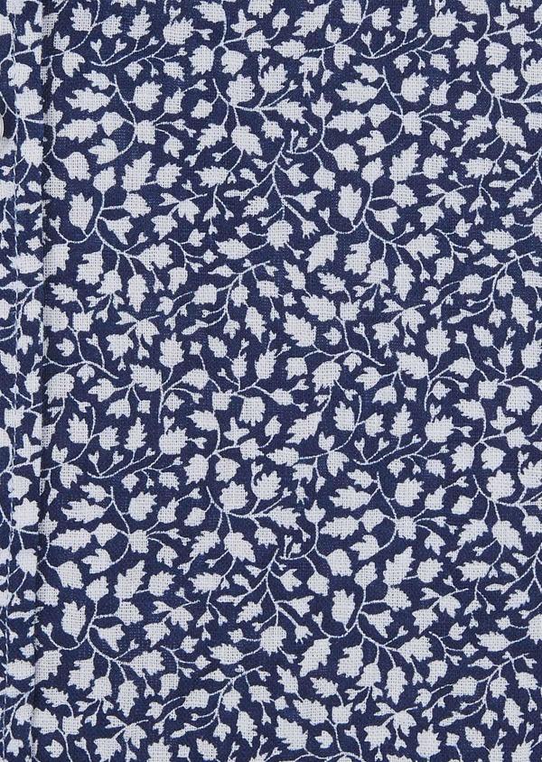 Chemise sport Slim en popeline de coton à motif feuri blanc - Father and Sons 5575