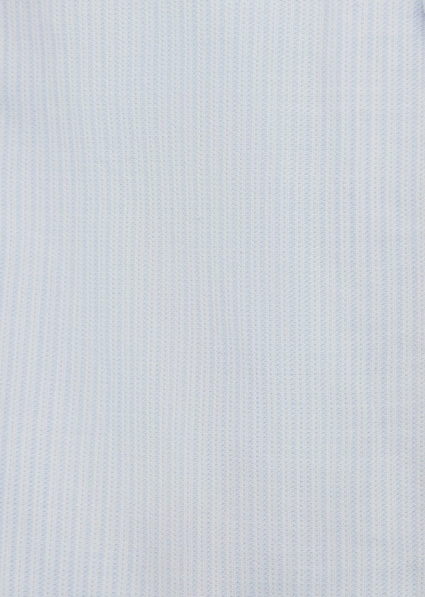 Chemise sport Slim en popeline de coton rayée bleu ciel - Father and Sons 5561