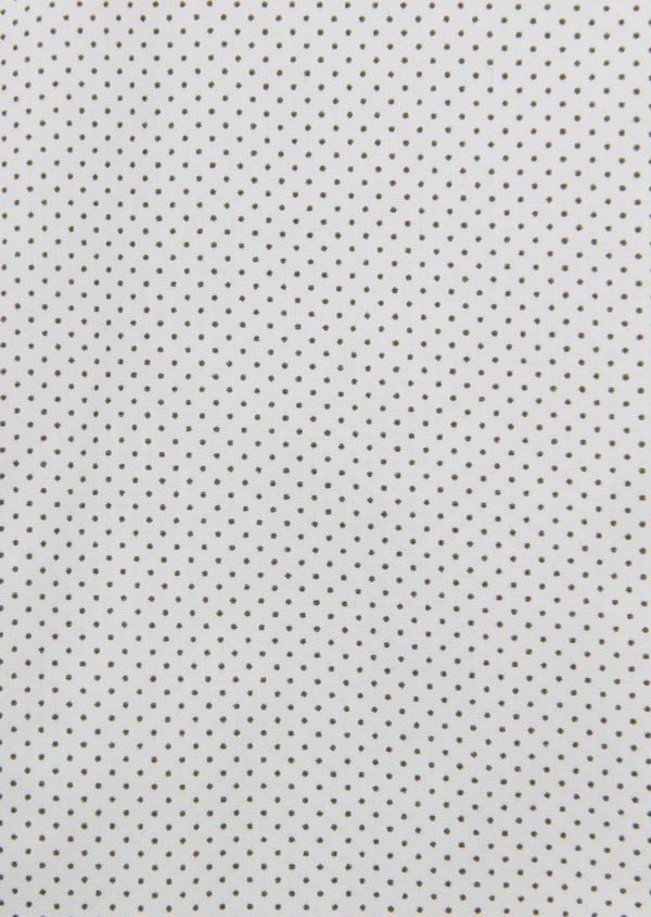 Chemise manches courtes Slim en popeline de coton à pois noir - Father and Sons 8054