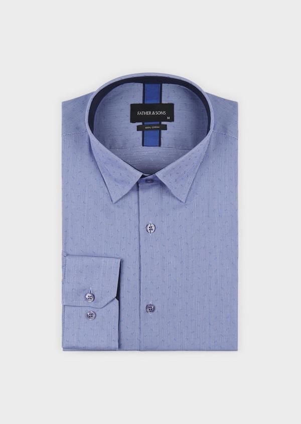Chemise habillée Regular en coton à motifs bleus - Father and Sons 5126