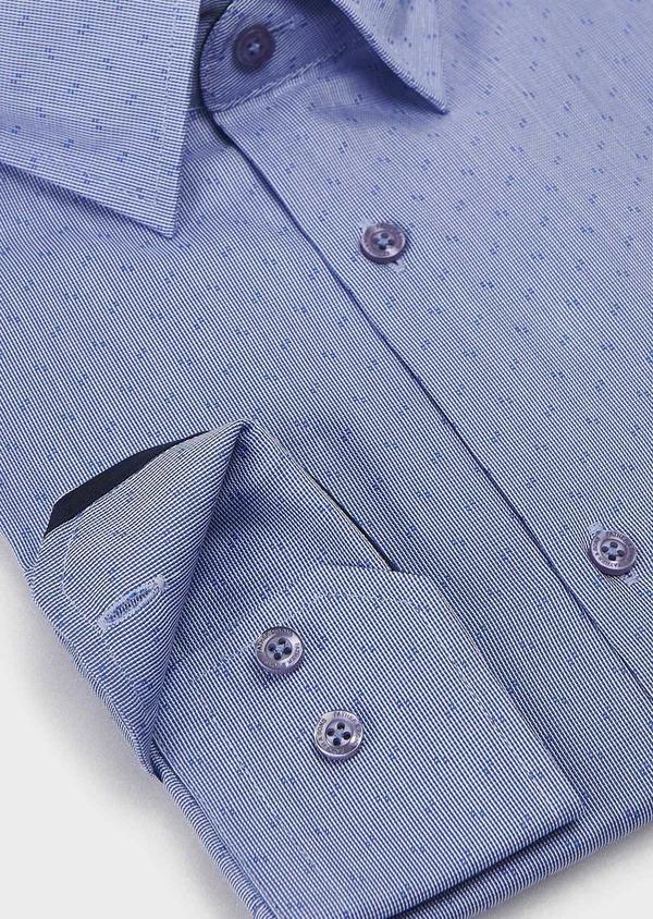 Chemise habillée Regular en coton à motifs bleus - Father and Sons 5129