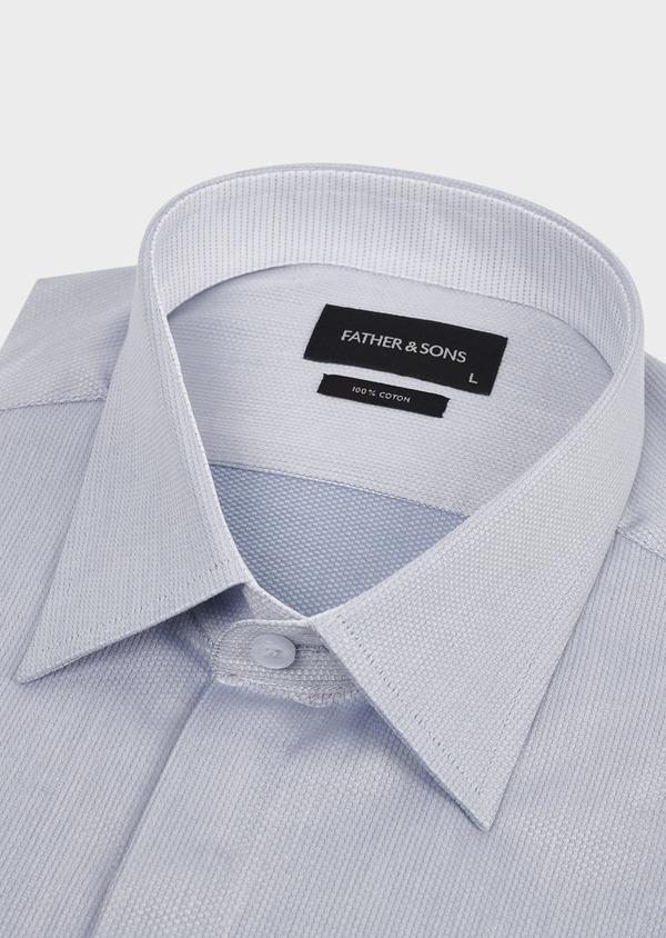 Chemise habillée Regular en coton uni gris - Father and Sons 5107