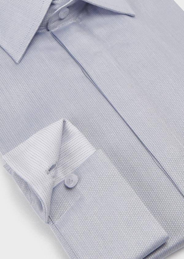 Chemise habillée Regular en coton uni gris - Father and Sons 5108