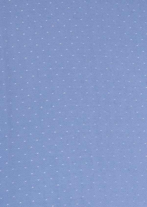 Chemise habillée Slim en coton tissé chevron à motifs bleus - Father and Sons 5407