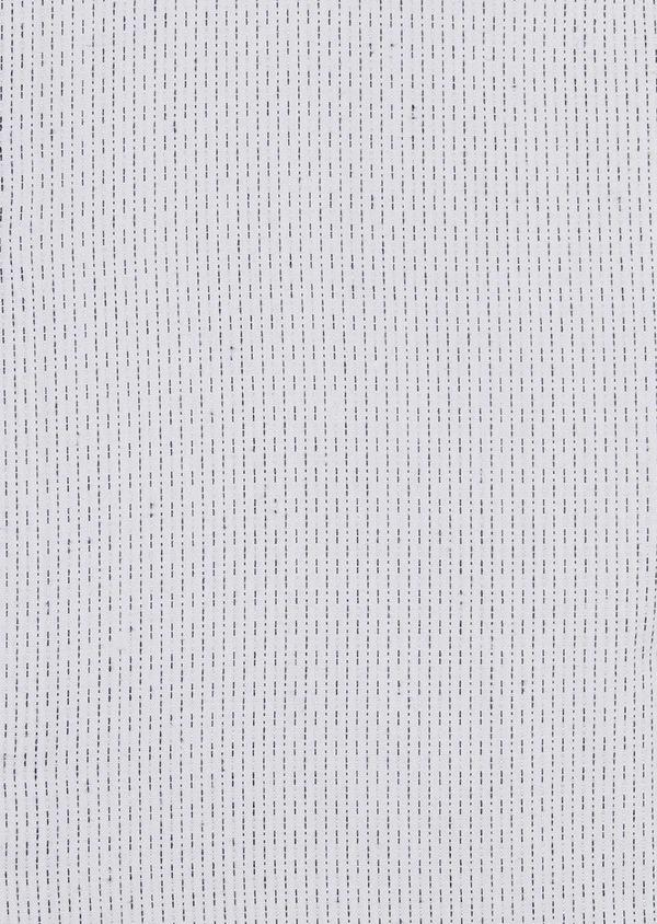 Chemise habillée Slim en popeline de coton à pointillés noirs - Father and Sons 5190