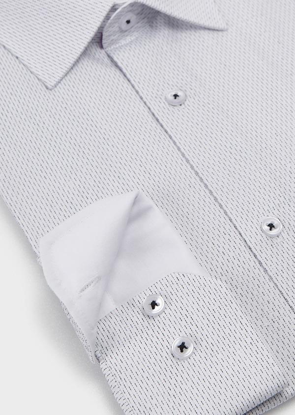 Chemise habillée Slim en popeline de coton à pointillés noirs - Father and Sons 5192