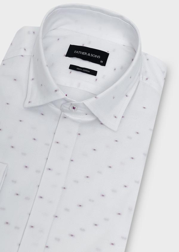 Chemise habillée Slim en coton façonné à motifs fantaisie - Father and Sons 5198