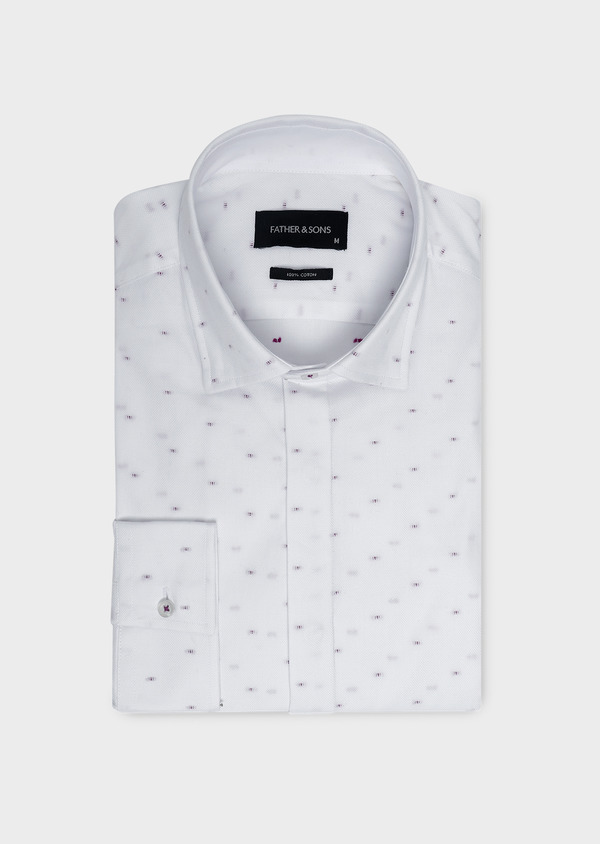 Chemise habillée Slim en coton façonné à motifs fantaisie - Father and Sons 5196