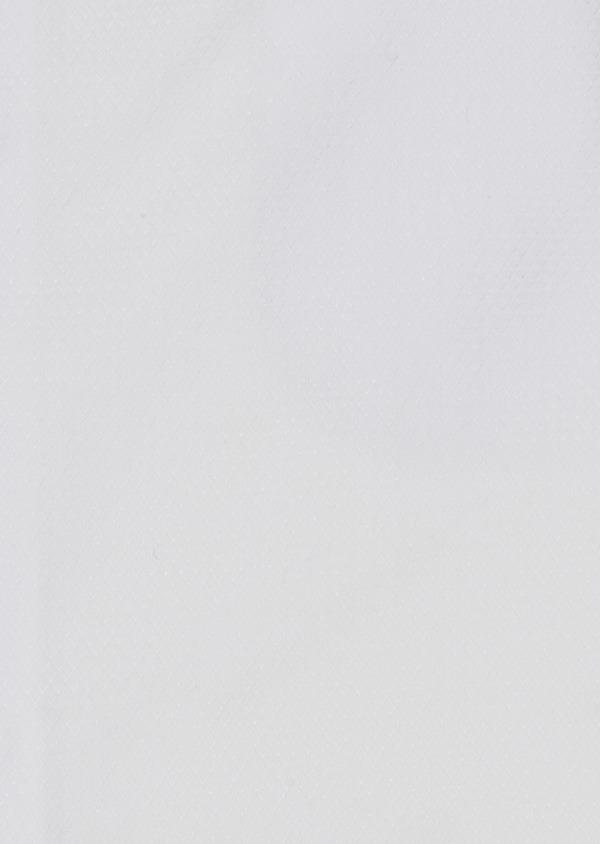 Chemise habillée Slim en coton façonné blanc à poignets mixtes et liseré gris - Father and Sons 5218