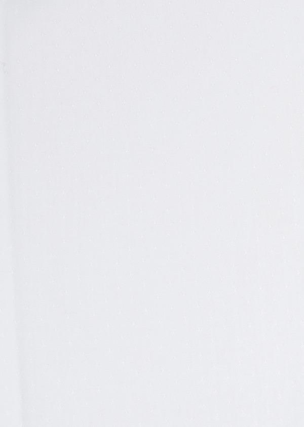Chemise habillée Slim en coton façonné blanc à poignets mousquetaires - Father and Sons 5253