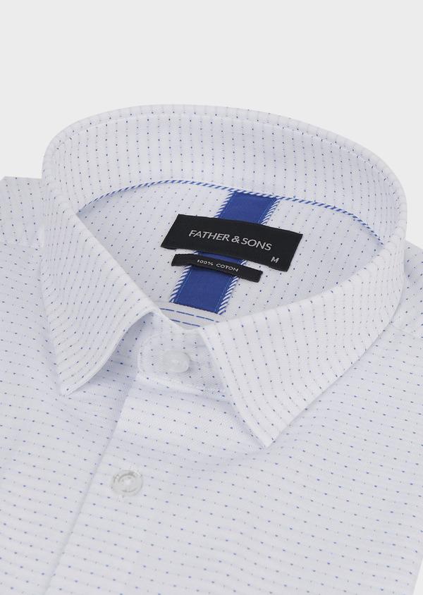 Chemise habillée Slim en coton à pois bleus - Father and Sons 5268