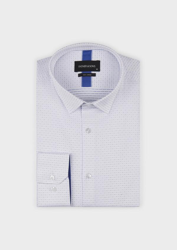 Chemise habillée Slim en coton à pois bleus - Father and Sons 5266