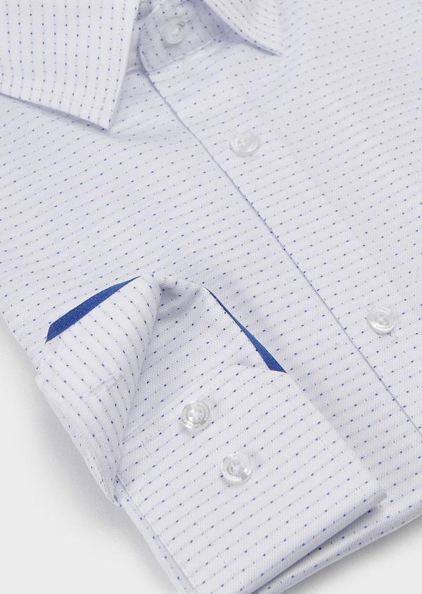 Chemise habillée Slim en coton à pois bleus - Father and Sons 5269