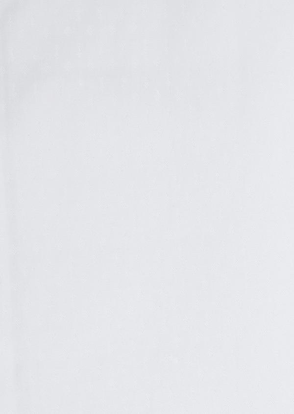 Chemise habillée Slim en coton façonné blanc à motifs ethniques - Father and Sons 5323