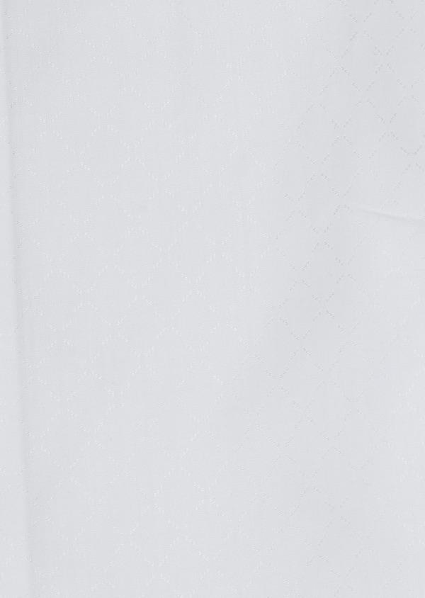 Chemise habillée Slim en coton façonné blanc à motifs fantaisie - Father and Sons 5393