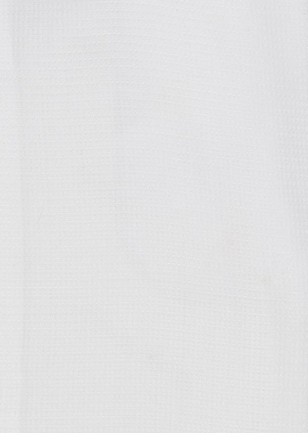 Chemise habillée Slim en coton façonné blanc à liseré rose - Father and Sons 5400