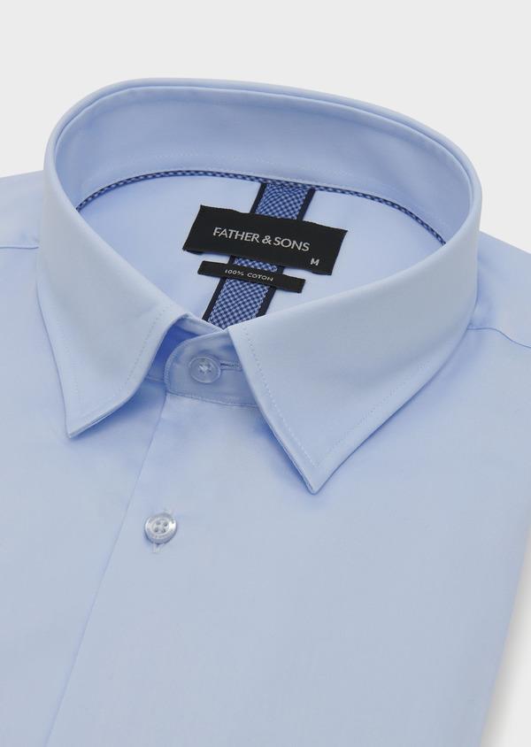 Chemise habillée Slim en coton façonné bleu ciel - Father and Sons 5296