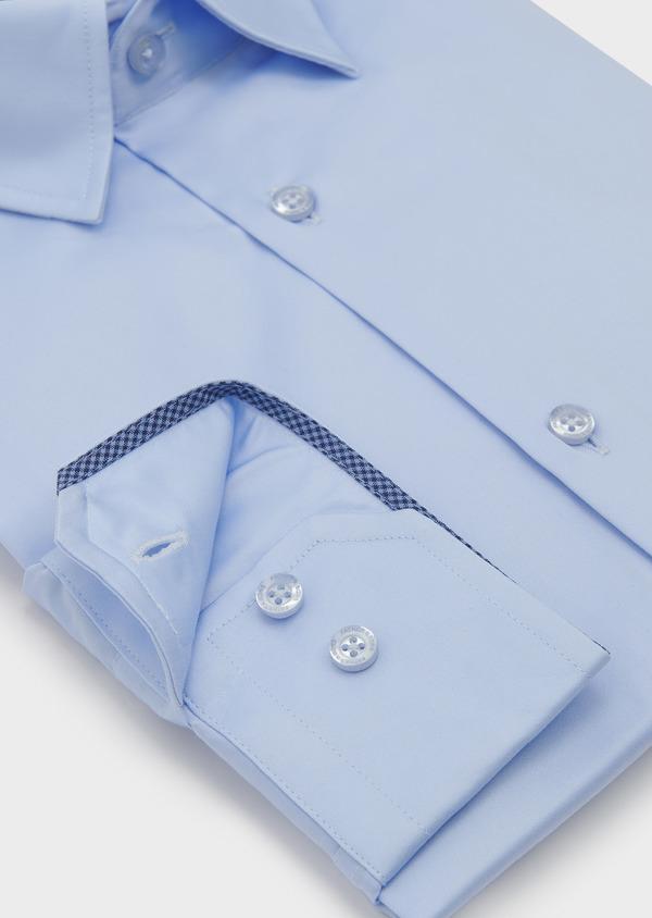 Chemise habillée Slim en coton façonné bleu ciel - Father and Sons 5297
