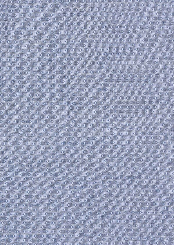 Chemise habillée Slim en coton façonné à pois blanc - Father and Sons 5337