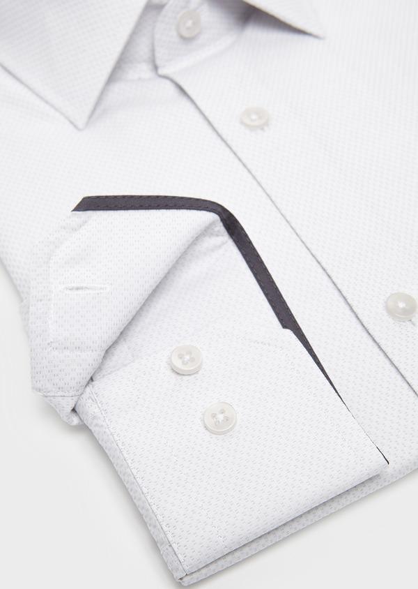 Chemise habillée Slim en coton façonné gris clair - Father and Sons 5227