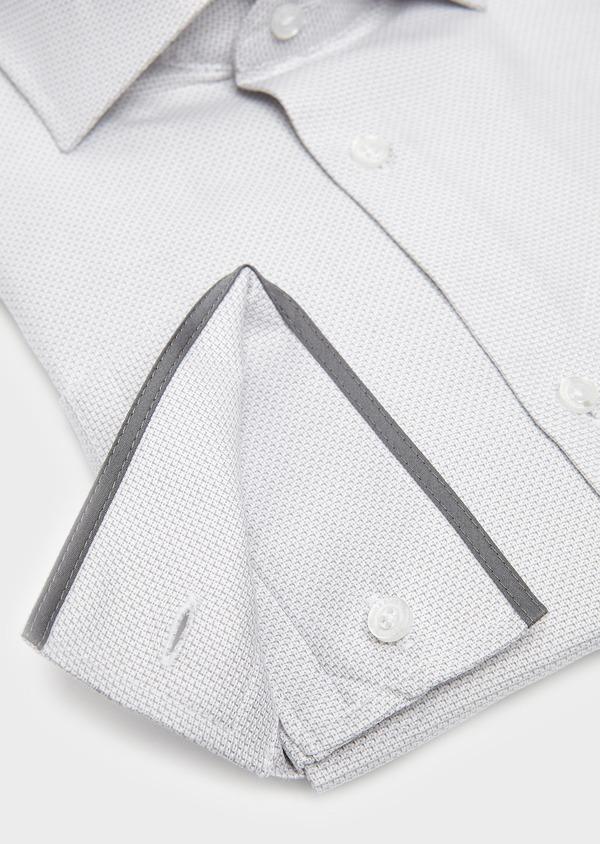 Chemise habillée Slim en coton façonné gris clair à poignets mixtes - Father and Sons 5234