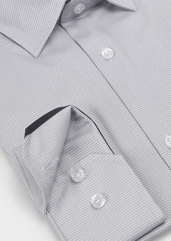Chemise habillée Slim en popeline de coton à motifs géométriques gris - Father and Sons 5241
