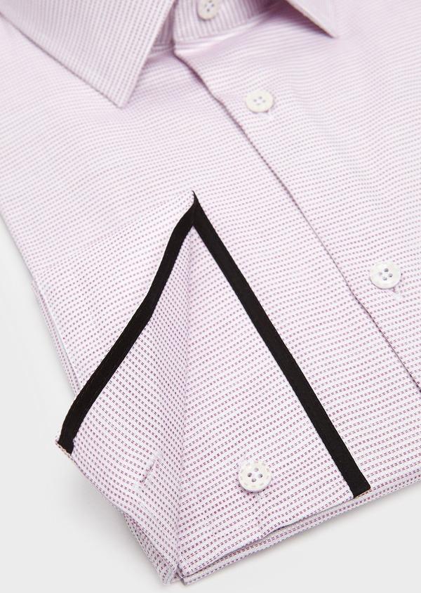 Chemise habillée Slim en coton façonné violet - Father and Sons 5381