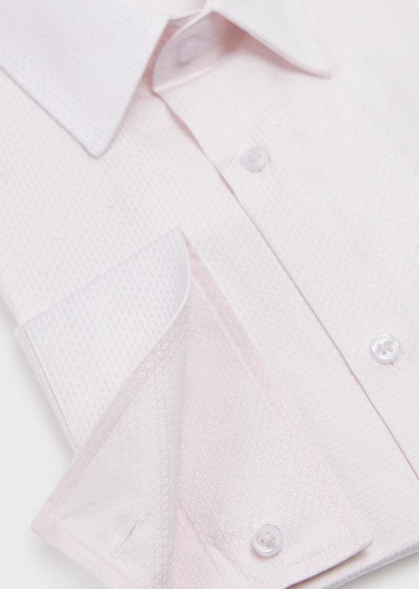 Chemise habillée Slim en coton façonné rose pale - Father and Sons 5206