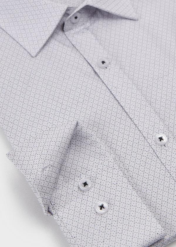 Chemise habillée Regular en popeline de coton à motifs losanges bleus - Father and Sons 5136