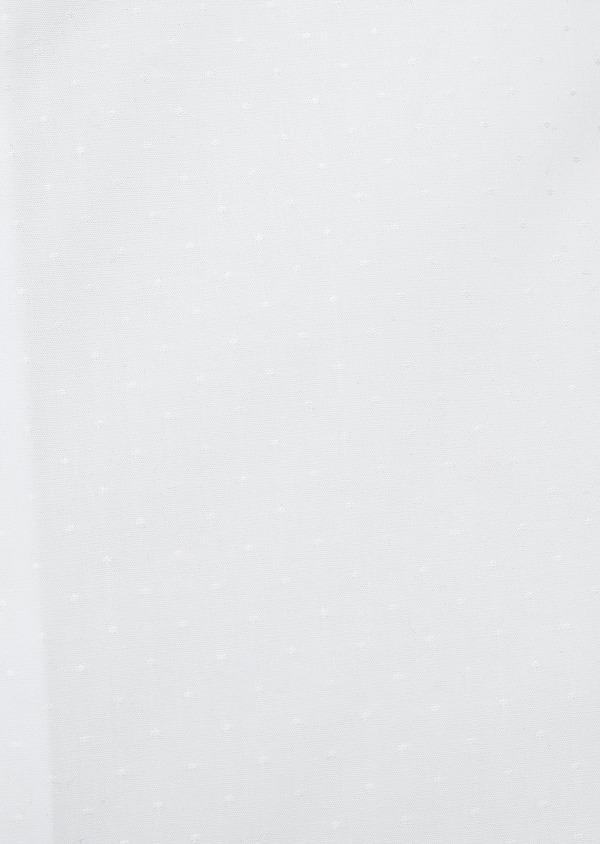 Chemise habillée Slim en coton façonné blanc à pois - Father and Sons 5372